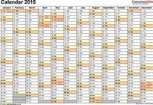 Free Printable Calendar 2020 Templates Template 2 Yearly Calendar 2015 As Pdf Template