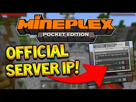 mcpe mineplex server ip minecraft pocket edition