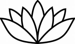Black Thick Lotus Clip Art at Clker.com - vector clip art ...