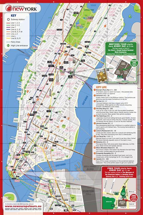 Carte Metro De Pdf by Plan Gratuit De New York Pdf 224 T 233 L 233 Charger