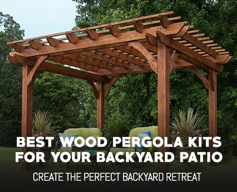 wood pergola kits   backyard patio
