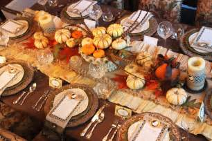 a feast for the thanksgiving dinner table decorations