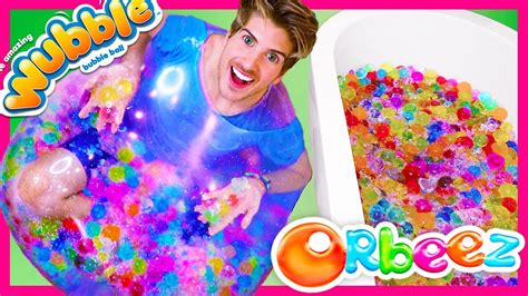 Wubble Bubble Filled With Giant Orbeez Youtube