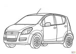 suzuki splash coloring page free printable coloring pages With suzuki swift car