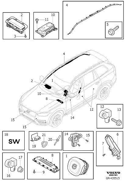 airbag deployment 2008 volvo xc90 parking system 39825805 volvo airbag module variant code restraint the autobarn volvo cars oak park oak
