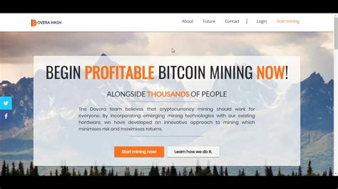 bitcoin mining without investment dovera hash free bitcoin cloud mining with 150gh s