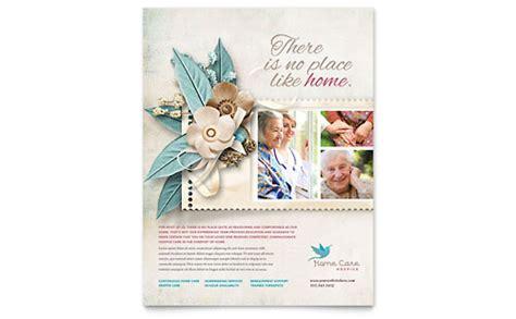 hospice home care brochure template design