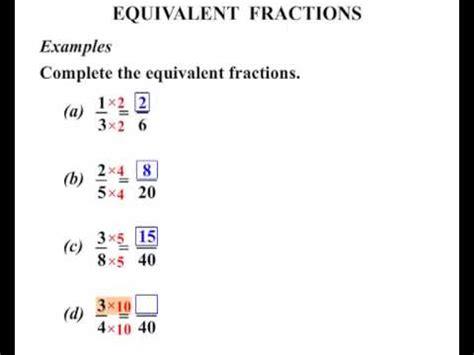 equivalent fractions worksheet 6th grade fractions test