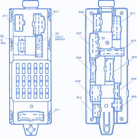 mazda 323 1991 on engine fuse box block circuit breaker
