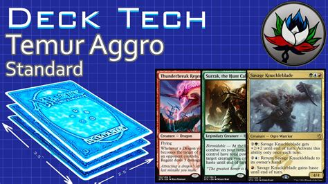 temur aggro standard deck tech dragons of tarkir mtg