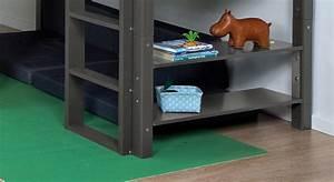 Hochbett Mit Zwei Betten : hochbett regal mit zwei ablagefl chen in farbe kids town ~ Whattoseeinmadrid.com Haus und Dekorationen