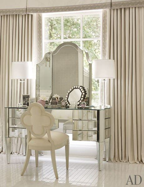 Mirrored Vanity   Traditional   bedroom   Architectural Digest