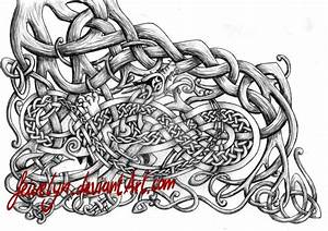 Nidhoeggr celtic knots (shaded) by Feivelyn on DeviantArt