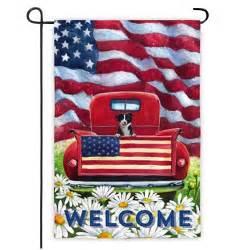 Patriotic Garden Flags by Patriotic Pup Truck Garden Flag 4th Of July Garden Flags