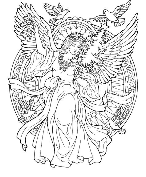 christmas angel coloring page color pages angel