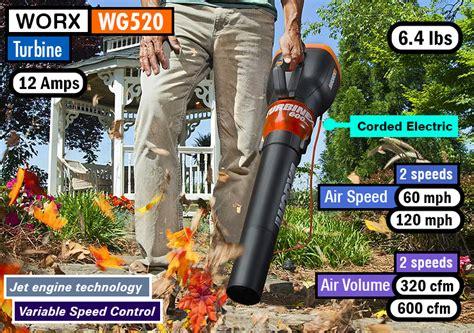 worx wg turbine  review worx turbine leaf blowers
