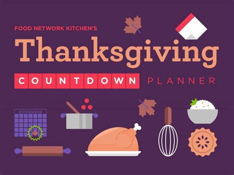 thanksgiving countdown thanksgiving countdown planner recipes and cooking food network food network
