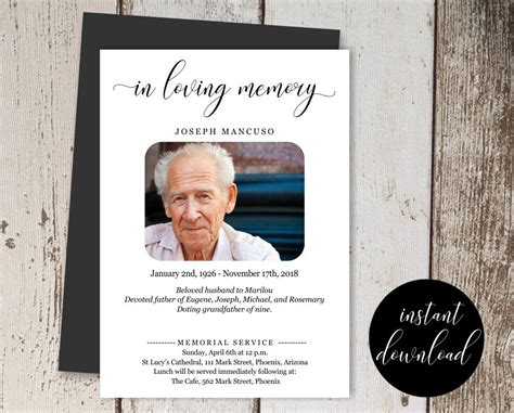 funeral announcement designs  examples psd ai