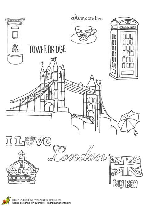 deco chambre londre coloriage tower bridge de londres