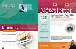 4 pages newsletter template by kinzi21 graphicriver With two page newsletter template