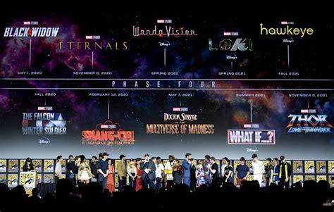 marvel unveils jam packed phase  slate  movies