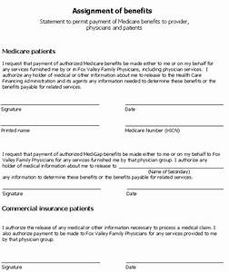 Assignment of benefits images frompo for Assignment of benefits form template