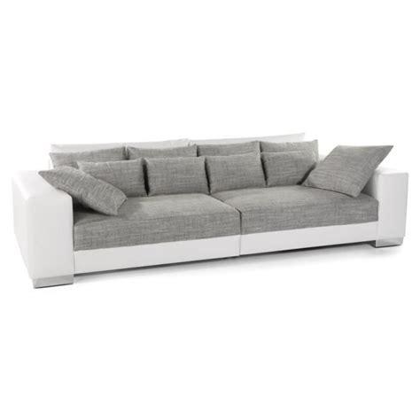 canap convertible droit 3 places grand canapé droit 39 quartz 39 blanc gris 4 places achat