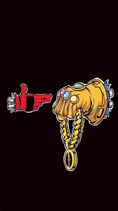 Dope Iphone Cartoon Wallpapers Deadpool Run Jewels