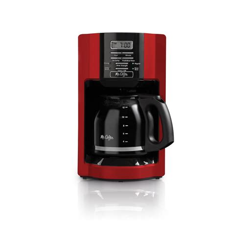 This coffee maker is designed to make brewing easier than ever and give it that extra little touch of love. Mr. Coffee 12-Cup Drip Coffee Maker, Red - Walmart.com
