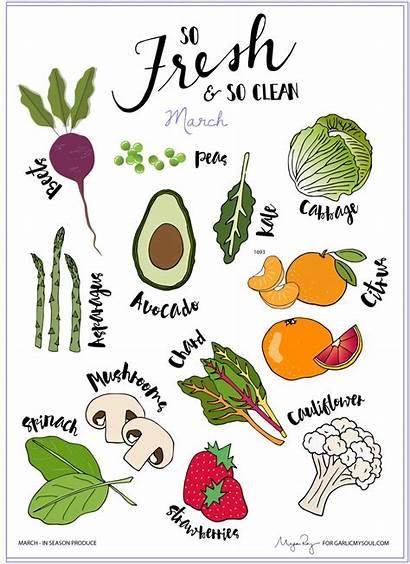 March Season Produce Fresh Veggies Whats Spring