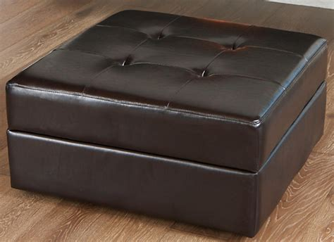 About Of Black Leather Storage Ottoman — Home Ideas Collection