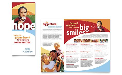 profit youth education brochure templates word