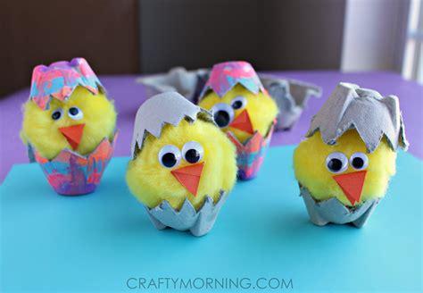 egg hatching craft crafty morning 653 | egg carton hatching chicks easter spring kids craft