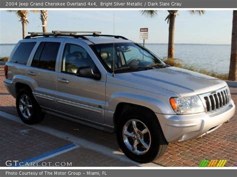 silver jeep grand cherokee 2004 bright silver metallic 2004 jeep grand cherokee overland