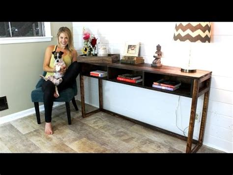 console table easy diy project youtube