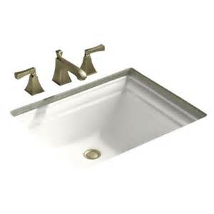 kohler k 2339 memoirs vitreous china 18 1 4 undermount rectangular bathroom sink with cl assembly