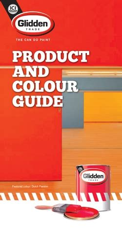 glidden product and colour card painting and decorating news