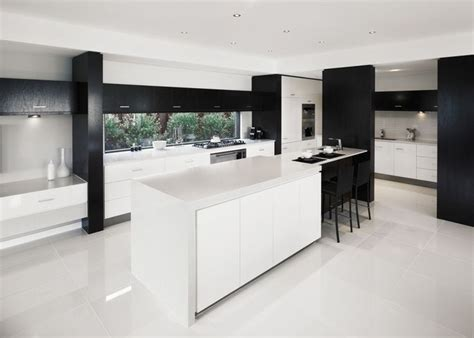 stratos limestone polished kitchens black white