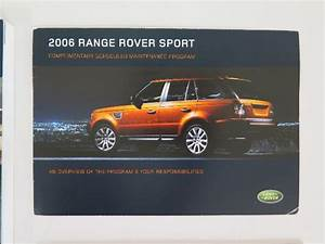 2006 Land Rover Range Rover Sport Owners Manual Guide Book