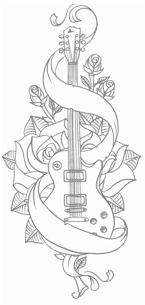 Edited | Music tattoo designs, Coloring pages, Tattoo templates