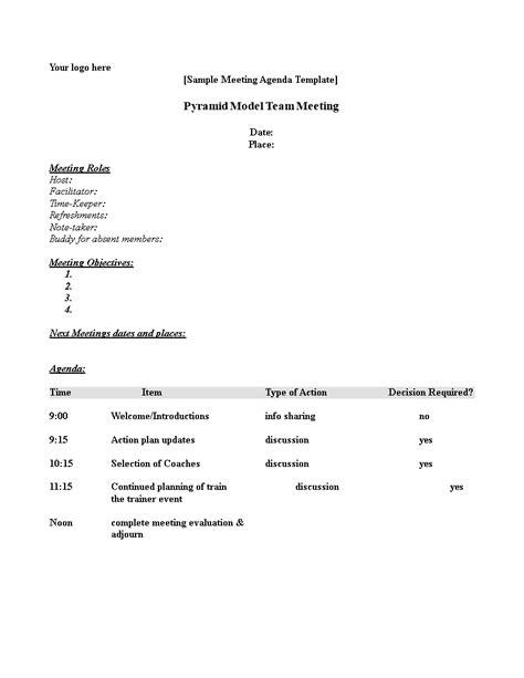 meeting agenda outline templates  allbusinesstemplatescom