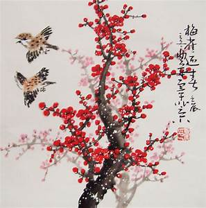 Cherry Blossom paintings Original chinese painting ...