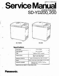 Panasonic Sd-yd200-cdn  Sd-200 Service Manual