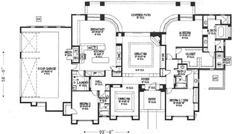 adobe style home plans house 19731 blueprint details floor plans
