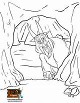 Cave Coloring Pages Printable Fun Getcolorings Print Hodag sketch template