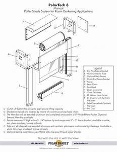 8 Manual Roller Shade System For Darkening