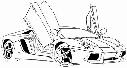 Transportation Coloring Sports Tuning Pages Printable Drawings