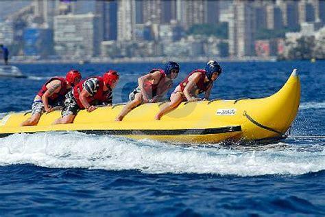 Banana Boat Girl by Thrilling Banana Boat Ride In Benidorm Banana Ahoy