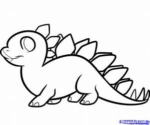How To Draw A Stegosaurus For Kids Step By Dinosaurs Easy ...