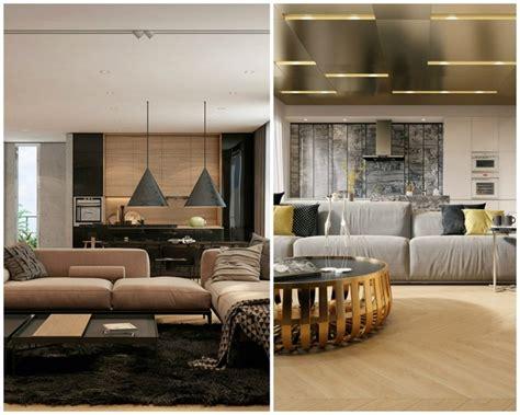 idée déco appartement avec de la texture en deux exemples